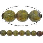 Veins Natyrore Dragon agat Beads, Agat Dragon venë, Round, asnjë, makinë faceted, 12mm, : 1.8mm, :15Inç, 5Fillesat/Shumë,  Shumë