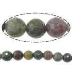 Manik-manik batu akik India alami, Putaran, tidak ada, Mesin segi, 6mm, : 1.5mm, :15Inci, 10Helai/Banyak,  Banyak