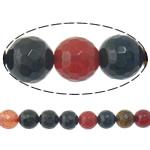 Agat Beads, Agat përziera, Round, i lyer, asnjë, 6mm, : 2mm, :15Inç, 5Fillesat/Shumë,  Shumë