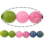 Beads Mermer Natyrore, Round, i lyer, 10mm, : 2mm, :15.5Inç, 10Fillesat/Shumë,  Shumë