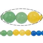 Beads Mermer Natyrore, Round, i lyer, 6mm, : 1.2mm, :15.5Inç, 10Fillesat/Shumë,  Shumë