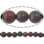 Jasper Brecciated Beads, Round, natyror, 12mm, : 1mm, :15.8Inç, 10Fillesat/Shumë,  Shumë