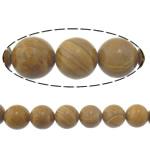 Beads Stone Kokërr, Round, natyror, 12mm, : 2mm, :16Inç, 10Fillesat/Shumë,  Shumë