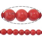 Beads Round Crystal, Kristal, Siam, 8mm, : 1.5mm, :15Inç, 20Fillesat/Shumë,  Shumë