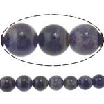 Beads kuarc bizhuteri, Ametist, Round, asnjë, 10mm, : 1.5mm, :15.5Inç, 5Fillesat/Shumë,  Shumë