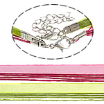 Cord gjerdan Moda, Cord Wax, with Fjongo, ngjyra të përziera, 1.7mm, :18Inç, 100Fillesat/Qese,  Qese