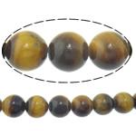 Syri Tiger Beads, Round, natyror, 8mm, : 2mm, :15.8Inç, 5Fillesat/Shumë,  Shumë