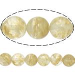 Beads Stone Kafe, Round, natyror, 18mm, : 1.2mm, :15.5Inç, 5Fillesat/Shumë,  Shumë