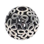 Beads aliazh zink Hollow, Alloy zink, Daulle, Ngjyra antike argjendi praruar, asnjë, , nikel çojë \x26amp; kadmium falas, 14.5x15mm, : 4mm, 10PC/Qese,  Qese