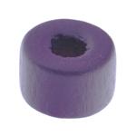 Beads druri, Kolonë, i lyer, vjollcë, 6x9mm, : 3mm, 3300PC/Qese,  Qese