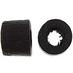 Beads druri, Daulle, i lyer, e zezë, 4x5mm, : 2.5mm, 10000PC/Qese,  Qese
