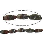 Manik-manik batu akik India alami, Twist, 10x20mm, : 1.7mm, :16Inci, 5Helai/Banyak,  Banyak