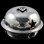 Hekuri Pendants Bell, pikturë, argjend, , nikel çojë \x26amp; kadmium falas, 26x32mm, : 6x4mm, 100PC/Qese,  Qese