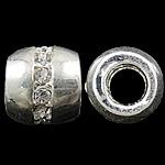 Beads European aliazh zink, Alloy zink, Daulle, Ngjyra antike argjendi praruar, aliazh zink core vetme pa karrem & me diamant i rremë, asnjë, , nikel çojë \x26amp; kadmium falas, 9.5x10mm, : 5mm, 10PC/Qese,  Qese
