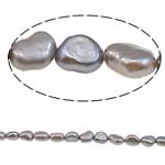 Barok Beads kulturuar Pearl ujërave të ëmbla, Pearl kulturuar ujërave të ëmbla, i lyer, kaki, 5-6mm, : 1mm, :15.4Inç,  15.4Inç,
