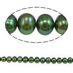 Barok Beads kulturuar Pearl ujërave të ëmbla, Pearl kulturuar ujërave të ëmbla, Round, i lyer, e gjelbër, 8-9mm, : 1mm, :15.7Inç,  15.7Inç,