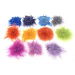 Aksesore bizhuteri, Flokët Fox, ngjyra të përziera, 70-100x70-100x5-8mm, 100PC/Qese,  Qese