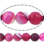 Dashuri Rose Beads agat, Rose agat, Round, asnjë, makinë faceted & shirit, 14mm, : 1-1.5mm, :15Inç, 5Fillesat/Shumë,  Shumë