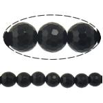 Beads Black Stone, Round, 8mm, : 2mm, :15Inç, 10Fillesat/Shumë,  Shumë