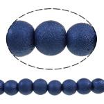 Stardust Glass Beads, Xham, Round, asnjë, blu, 8mm, : 1-1.5mm, :33.1Inç, 10Fillesat/Qese,  Qese