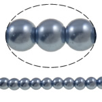 Glass Beads Moda, Xham, Round, asnjë, vjollcë, 8mm, : 1-1.5mm, : 31.5Inç, 10Fillesat/Qese,  Qese