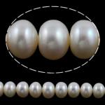 Button Beads ujërave të ëmbla kulturuar Pearl, Pearl kulturuar ujërave të ëmbla, AA, 11-12mm, : 0.8mm, :15Inç,  15Inç,