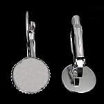 Llozi tunxh Back Vath Komponenti, Shape Tjera, ngjyrë platin praruar, asnjë, asnjë, , nikel çojë \x26amp; kadmium falas, 10.50x22x13mm, : 10mm, 200Çiftet/Qese,  Qese