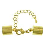 Kapje karavidhe tunxh, Shape Tjera, ngjyrë ari praruar, asnjë, asnjë, , nikel çojë \x26amp; kadmium falas, 42mm, 6x12x3mm, 9x13mm, : 8.5mm, 100Sets/Shumë,  Shumë