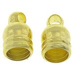 Fundi tunxh Cap, Shape Tjera, ngjyrë ari praruar, asnjë, asnjë, , nikel çojë \x26amp; kadmium falas, 5x8mm, : 4mm, 1000PC/Qese,  Qese