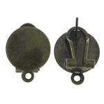 Clip tunxh Në Vath Finding, Shape Tjera, Ngjyra antike bronz i praruar, asnjë, asnjë, , nikel çojë \x26amp; kadmium falas, 13x17.50mm, : 1.5mm, 100Çiftet/Qese,  Qese