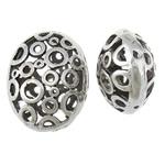 Beads aliazh zink Hollow, Alloy zink, Oval, Ngjyra antike argjendi praruar, asnjë, asnjë, , nikel çojë \x26amp; kadmium falas, 17.50x22.50x11.80mm, : 1.2mm, 50PC/Qese,  Qese