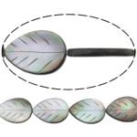 Beads Zi Shell, Gjethe, natyror, asnjë, asnjë, 18x26x3.50mm, : 0.7mm, :16.5Inç, 5Fillesat/Shumë,  Shumë