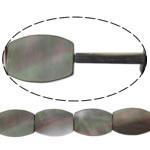 Beads Zi Shell, Oval Flat, natyror, asnjë, asnjë, 13x18x3mm, : 0.7mm, :15Inç, 5Fillesat/Shumë,  Shumë
