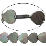 Beads Zi Shell, Zemër, natyror, asnjë, asnjë, 10x10x2.50mm, : 0.7mm, :14.5Inç, 10Fillesat/Shumë,  Shumë