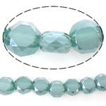 Imitim Swarovski Crystal Beads, Kristal, Round Flat, gjysmë-kromuar, imitim kristal Swarovski, Smerald, 6x6x3.50mm, : 1mm, : 22Inç, 5Fillesat/Shumë,  Shumë