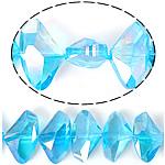 Imitim Swarovski Crystal Beads, Kristal, Shape Tjera, plotë kromuar, imitim kristal Swarovski, Akuamarin, 19x12x7mm, : 1mm, 100PC/Shumë,  Shumë