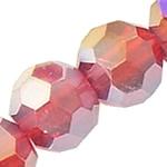 Imitim Swarovski Crystal Beads, Kristal, Round, plotë kromuar, imitim kristal Swarovski, Siam, 4mm, : 1mm, 20Fillesat/Shumë,  Shumë