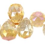 Imitim Swarovski Crystal Beads, Kristal, Lot, plotë kromuar, imitim kristal Swarovski, Champagne Gold, 18x26mm, : 1mm, 50PC/Shumë,  Shumë
