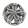 Bali Sterling Silver Beads, Tajlandë, Round, asnjë, asnjë, asnjë, 13mm, : 1.5mm, 3PC/Qese,  Qese