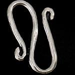 Kapje 925 Sterling Silver Hook S, Shape Tjera, argjend praruar vërtetë, asnjë, argjend, 8.50x15x3mm, 10PC/Qese,  Qese