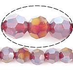 Imitim Swarovski Crystal Beads, Kristal, Round, plotë kromuar, imitim kristal Swarovski, Siam, 8mm, : 1mm, : 22Inç, 10Fillesat/Shumë,  Shumë