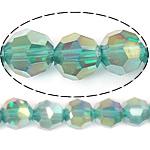 Imitim Swarovski Crystal Beads, Kristal, Round, plotë kromuar, imitim kristal Swarovski, Smerald, 8mm, : 1mm, : 22Inç, 10Fillesat/Shumë,  Shumë