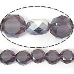 Imitim Swarovski Crystal Beads, Kristal, Round Flat, gjysmë-kromuar, imitim kristal Swarovski, Lt Amethyst, 12x12x7mm, : 1.2mm, 300PC/Shumë,  Shumë