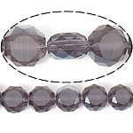Imitim Swarovski Crystal Beads, Kristal, Round Flat, gjysmë-kromuar, imitim kristal Swarovski, Ametist, 12x12x7mm, : 1.2mm, 300PC/Shumë,  Shumë