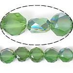 Imitim Swarovski Crystal Beads, Kristal, Round Flat, gjysmë-kromuar, imitim kristal Swarovski, Olivine, 12x12x7mm, : 1.2mm, 300PC/Shumë,  Shumë