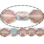 Imitim Swarovski Crystal Beads, Kristal, Round Flat, gjysmë-kromuar, imitim kristal Swarovski, Vintage Rose, 12x12x7mm, : 1.2mm, 300PC/Shumë,  Shumë