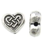 Beads Zink Alloy Zemra, Alloy zink, Zemër, Ngjyra antike argjendi praruar, asnjë, asnjë, , nikel çojë \x26amp; kadmium falas, 9x8x3.50mm, : 1mm, 1000PC/KG,  KG