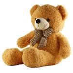 Teddy Bear Toy, Velveteen, punuar me dorë, i verdhë, 80cm,  PC