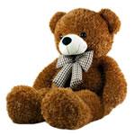 Teddy Bear Toy, Velveteen, punuar me dorë, ngjyrë kafe, 100cm,  PC