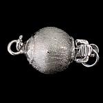 925 Sterling Silver Box kapje, Round, argjend praruar vërtetë, vetme-fillesë & i mbuluar me brymë, asnjë, 9x8mm, 10PC/Qese,  Qese